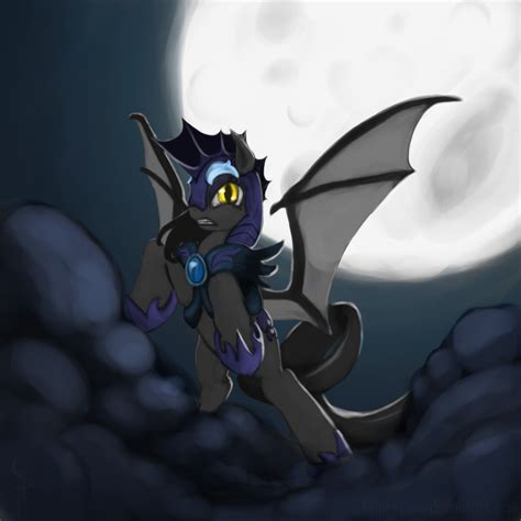 guard ponies bat nightmare pony luna batpony bats mlp night lunar female ironheart mare dash confirmed canon race reading fimfiction