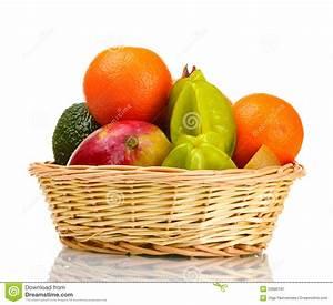 Panier A Fruit : assortiment des fruits exotiques dans le panier image stock image du panier m lang 23680197 ~ Teatrodelosmanantiales.com Idées de Décoration