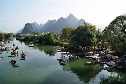 River Yangshuo Guilin China Yulong Chine Guillin