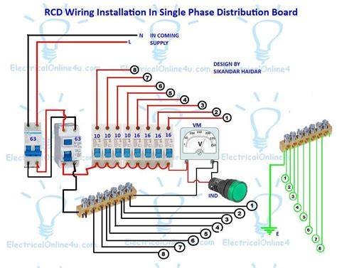 Rcd Wiring Installation Single Phase Distribution Board