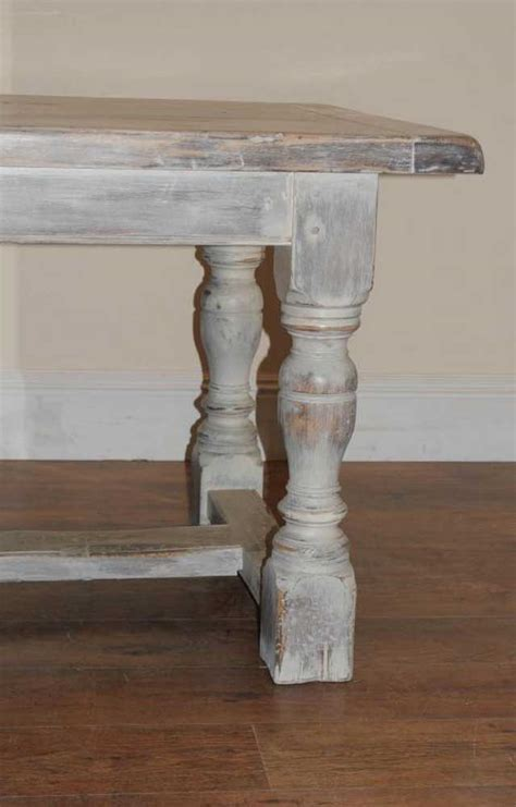 Painted Oak Rustic Kitchen Refectory Table Dining