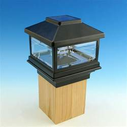 solar post cap light by deckorators decksdirect
