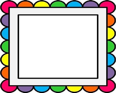 clipart frame rainbow frame clipart clipground