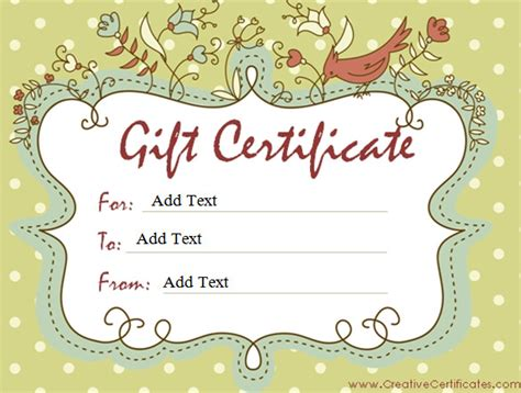gift certificate template   word outlook