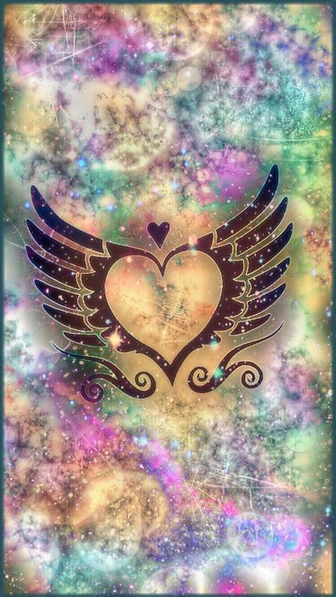 galaxy heart wallpapers cellphone wallpaper heart