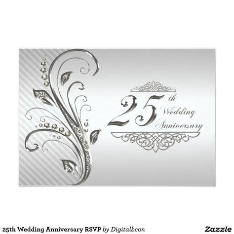 wedding anniversary rsvp invitation zazzlecom
