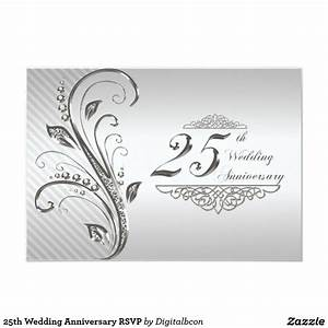 25th wedding anniversary rsvp card 25 wedding With images of 25th wedding anniversary cards