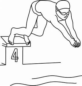 Dessin De Piscine : coloriage d 39 un sport des jeux olympiques la natation ~ Melissatoandfro.com Idées de Décoration