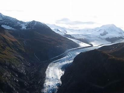 Alaska Usa Mexico Fields Ice Glaciers Down