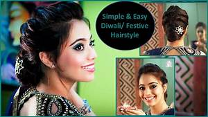 Simple & Easy Diwali/Festive/Party Updo Hairstyle (Hindi) YouTube