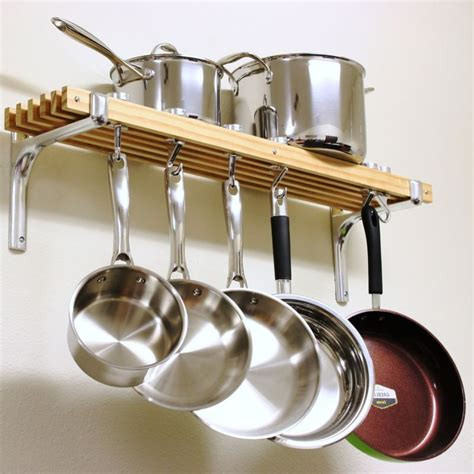 utensilios de cocina de cocina pan pot rack colgante de montaje en pared metal organizador de