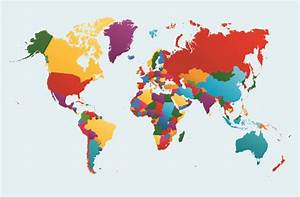 Vector world map design graphics set 05 - Vector Maps free ...