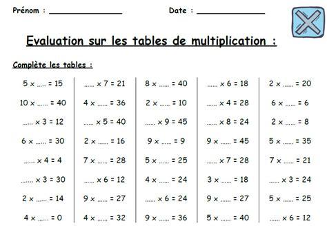 exercice table de multiplication ce2 votre inspiration 224 la maison