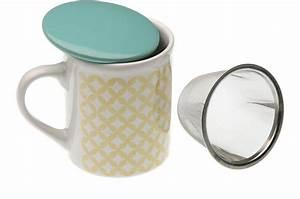 Mug Infuseur Thé : tasse th avec infuseur jaune topitos mug verre pas cher ~ Teatrodelosmanantiales.com Idées de Décoration