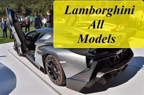 Lamborghini All Models From Beginning (1964-2016) - YouTube