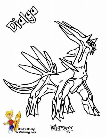 Pokemon Arceus Coloring Dialga Pages Printouts Legendary