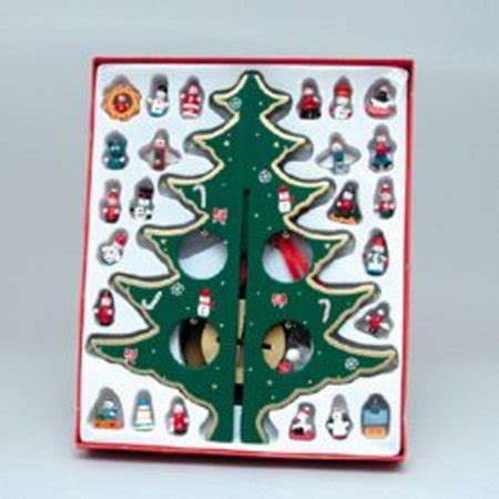wooden christmas tree  miniature ornaments
