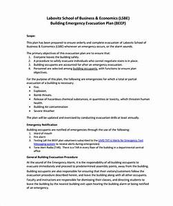 11 evacuation plan templates free sample example With emergency plan template for businesses