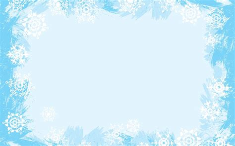 Backgrounds Borders by Light Blue Snowflake Frame Backgrounds Blue Border