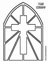 Coloring Pages Church Window Glass Adults sketch template