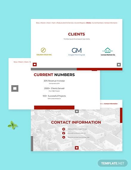 Real Estate Company Profile Template - PowerPoint (PPT ...