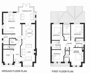 Five, Bedroom, House, Plans, Two, Story