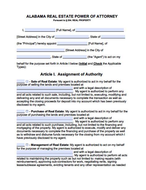 alabama power of attorney form pdf alabama real estate only power of attorney form power of