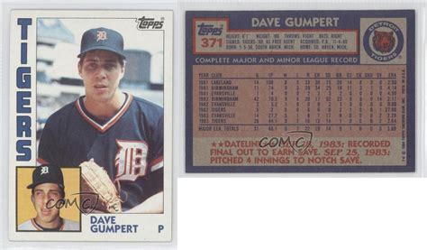 1984 Topps #371 Dave Gumpert Detroit Tigers Rc Rookie