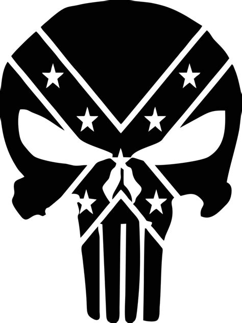 The Punisher Confederate Rebel Flag Vinyl Decal – Decals N
