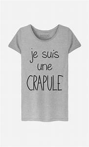 Tee Shirt Ete Femme : t shirt femme je suis une crapule motif cool wooop ~ Melissatoandfro.com Idées de Décoration