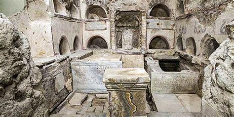 The Vatican Necropolis of the Via Triumphalis in Rome, Italy