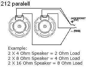 Earcandy Guitar Amp Speaker Cab Parallel Wiring