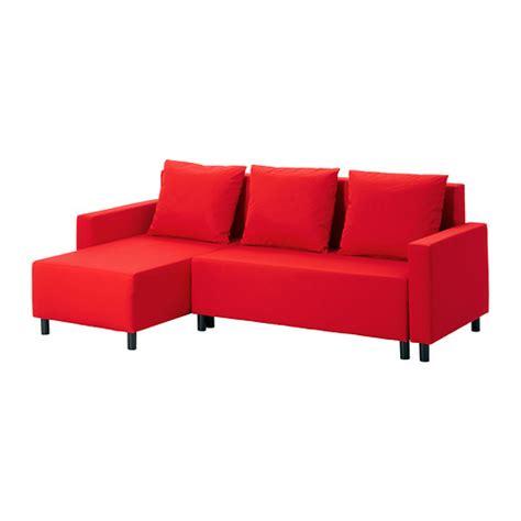 red sectional sleeper lugnvik sleeper sectional 3 seat granån red ikea
