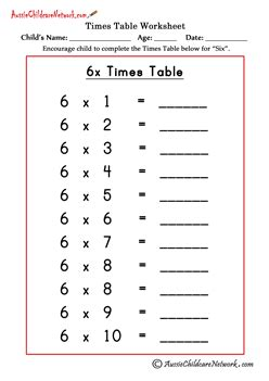 multiplication times tables worksheets aussie childcare