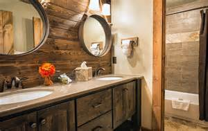 Rustic Log Cabin Bathroom Vanities