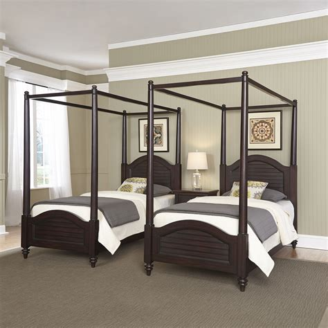 home styles bermuda espresso  twin canopy beds