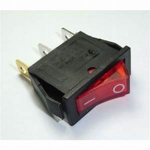 Rocker Switch Red On  Off Spst  With Lamp  15a 250vac Panel