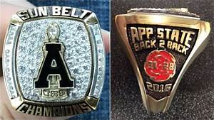 App State football receives rings commemorating 2016 ...