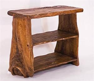 African, Handmade, Wooden, Table, Top, Shelves, By, Kwetu
