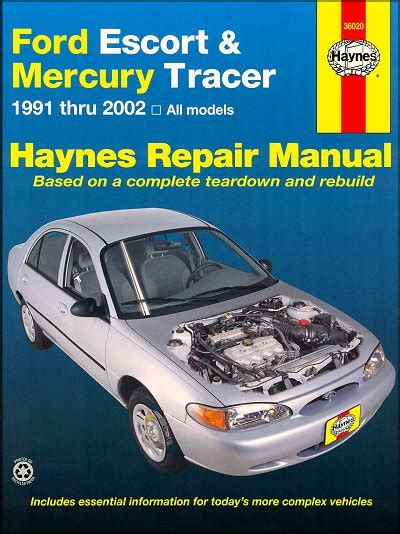 motor repair manual 1994 ford crown victoria navigation system ford escort mercury tracer repair manual 1991 2002 haynes 36020