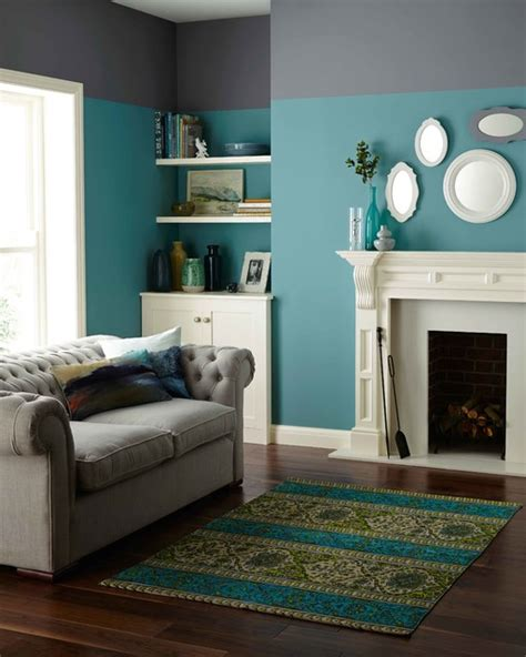 crown paints two tone tranquility contemporary living room dublin by crown paints