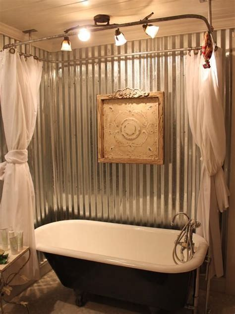 attractive clawfoot tub bathroom ideas  corrugated