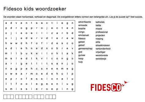 fidesco nederland en vlaanderen woordzoeker