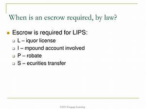 PPT - Chapter 9: Processing: Escrow Settlement, Title and ...