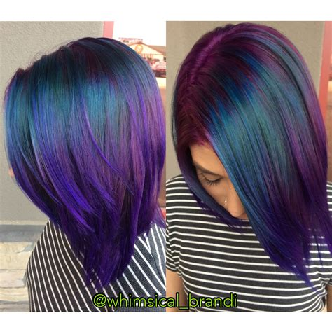 Peacock Hair Teals And Purples Are So Beautiful Hair