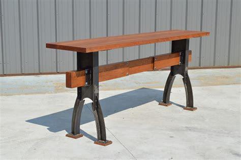 post  beam mid century industrial table