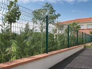 Muret De Cloture : grillage rigide sur muret ~ Melissatoandfro.com Idées de Décoration