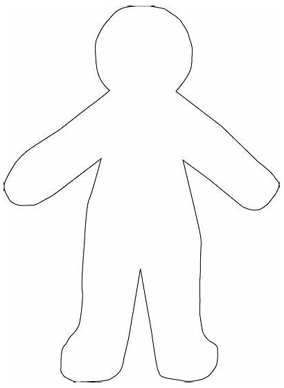Doll Paper Template Blank Coloring Pages