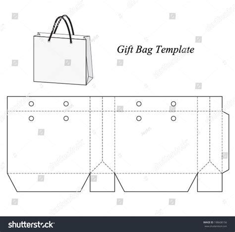 bag template shopping bag template vector illustration stock vector