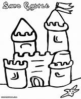 Sandcastle Coloring Pages Colorings Print sketch template